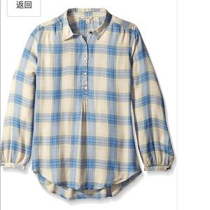 Lucky Brand Plaid Button Up Top